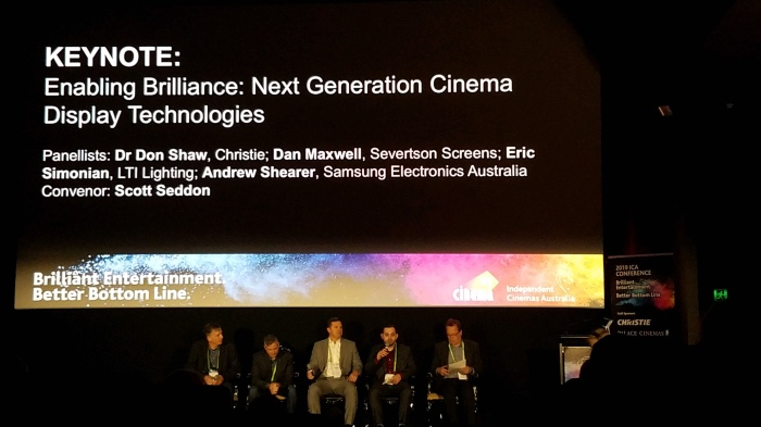 Eric Simonian participates in a laser panel discussion, exploring next generation display technologies.